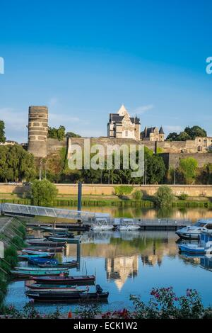 france maine et loire angers castle the apocalypse tapestry for stock photo royalty free. Black Bedroom Furniture Sets. Home Design Ideas
