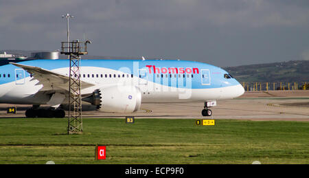 Thomson Airways Boeing 787 at Manchester International Airport. - Stock Photo