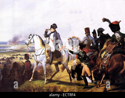 Napoleon at Wagram, painted by Horace Vernet - Stock Photo