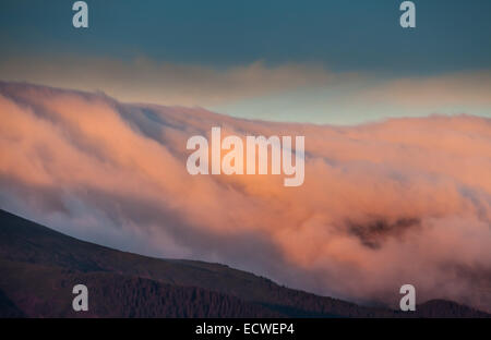 Beautiful autumn landscape in mountains Karpaty in the forest. - Stock Photo