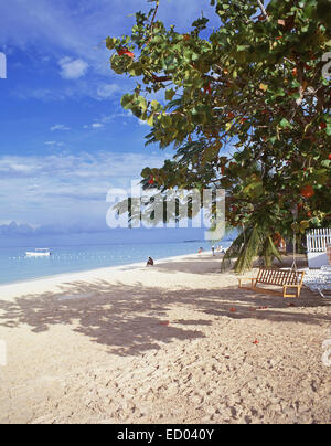 Negril Beach, Negril, Westmoreland Parish, Jamaica, Greater Antilles, Caribbean - Stock Photo