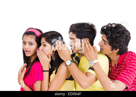 indian college Friends Rumour - Stock Photo