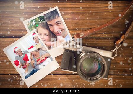 Composite image of christmas memories - Stock Photo