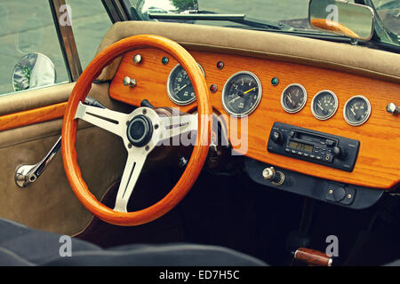 luxury old car interior stock photo royalty free image 83369925 alamy. Black Bedroom Furniture Sets. Home Design Ideas
