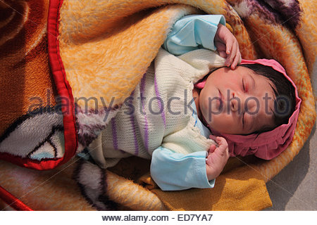 Indian new Born baby - Stock Photo