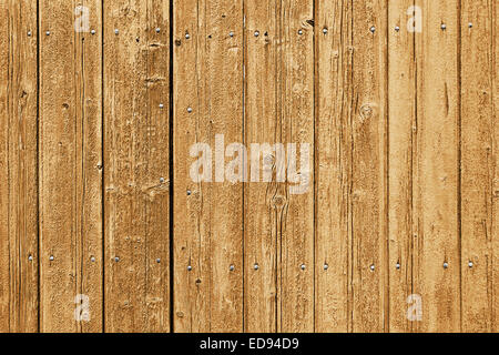Weathered wooden planks with nails - Stockfoto