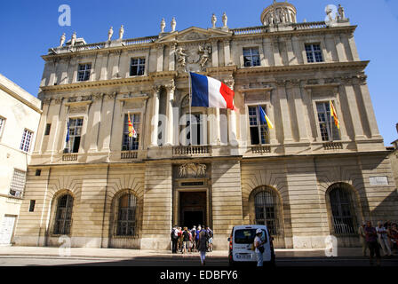Arles, Provence, France Place De La Republique - Stock Photo