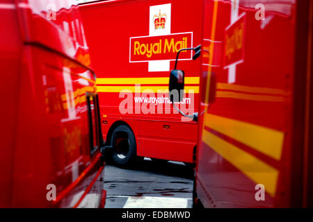 post office delivery vans at the depot glasgow scotland uk stock photo royalty free image. Black Bedroom Furniture Sets. Home Design Ideas