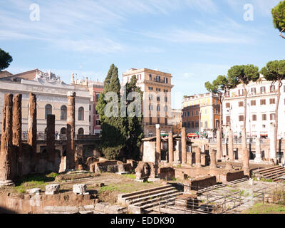 Rome - Largo  di Torre Argentina - Stock Photo