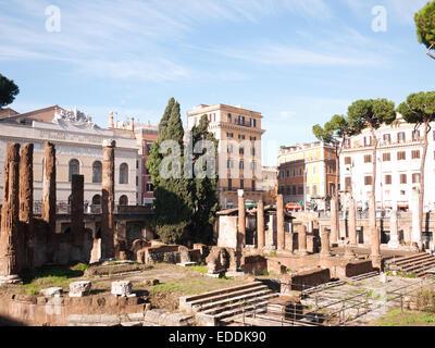 Rome - Largo  di Torre Argentina - Stock Photo
