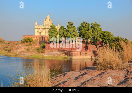 Jaswant Thada Mausoleum in Jodhpur, Rajasthan State, India - Stock Photo