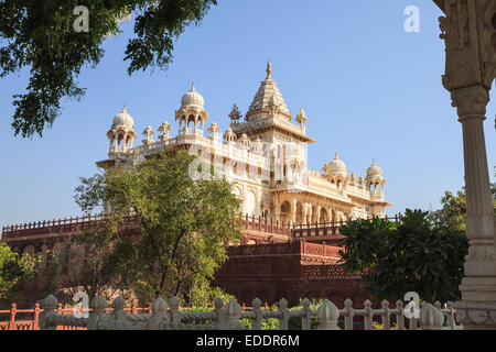 Jaswant Thada Memorial in Jodhpur, Rajasthan State, India - Stock Photo