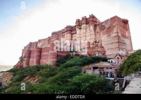View of Mehrangarh Fort in Jodhpur, India - Stockfoto