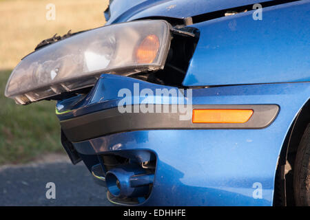 Volvo Police Car Usa >> Car with front end collision damage - USA Stock Photo: 69175571 - Alamy