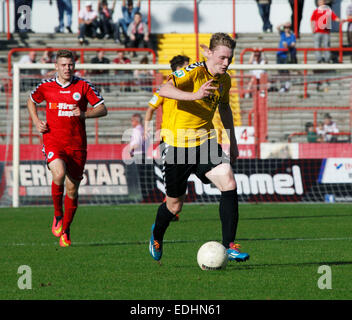 sports, football, Regional League West, 2014/2015, Rot Weiss Oberhausen versus KFC Uerdingen 05 1:2, Stadium Niederrhein - Stock Photo