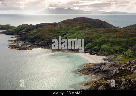 point of sleat and view to rum isle of skye - Stock Photo