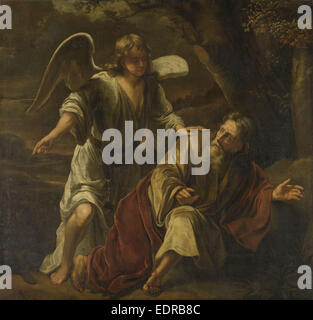 Biblical Scene, perhaps the Prophet Elijah Visited by an Angel, attributed to Ferdinand Bol, c. 1645 - c. 1669 - Stock Photo