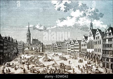Panorama of frankfurt main 17th century germany europe for Liebfrauenberg frankfurt