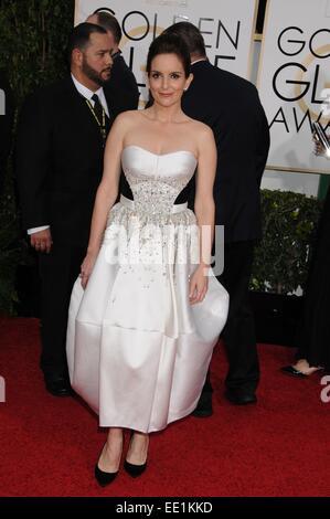 Los Angeles, CA, USA. 11th Jan, 2015. Jan 11, 2015 - Los Angeles, CA, United States - Actress TINA FEY at the 72nd - Stockfoto