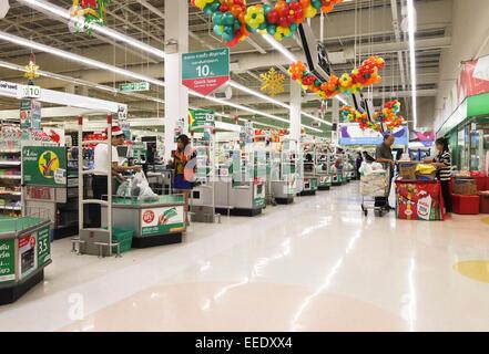 Tesco Lotus Supermarket Bangkok Thailand Stock Photo