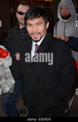 New York, NY, USA. 16th Jan, 2015. Manny Pacquiao out and about for Celebrity Candids - FRI, New York, NY January - Stock Photo