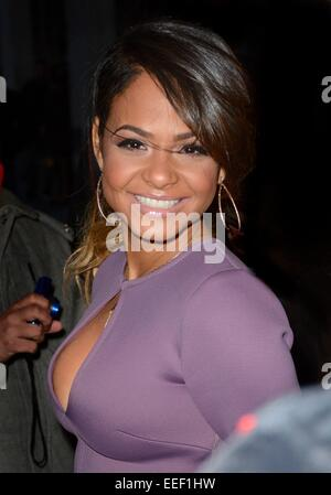 New York, NY, USA. 16th Jan, 2015. Christina Milian out and about for Celebrity Candids - FRI, New York, NY January - Stock Photo