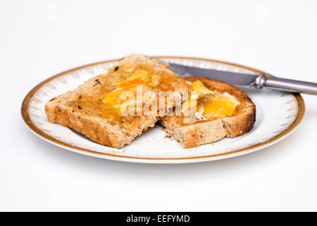 Toast and Marmalade. - Stock Photo