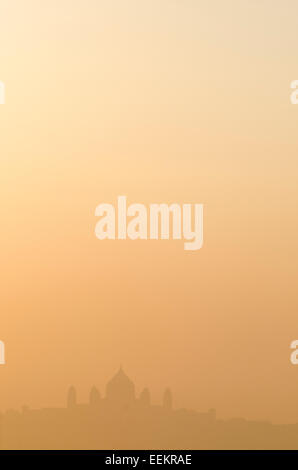 View of Jodhpur cityscape horizon at sunrise, with the Umaid Bhawan Palace, in the distance. State of Rajasthan, - Stock Photo