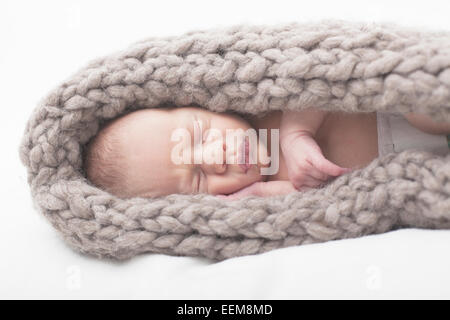 Portrait of baby boy sleeping - Stock Photo