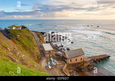 Sunset at Polpeor Cove Lizard Point the most  Cornwall England UK Europe - Stockfoto