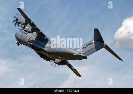 A Royal Air Force Airbus Military A400M Atlas transport plane at the 2014 Royal International Air Tattoo at RAF - Stock Photo