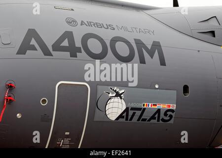 A Royal Air Force Airbus Military A400M Atlas transport aircraft at the 2012 Royal International Air Tattoo, RAF - Stock Photo