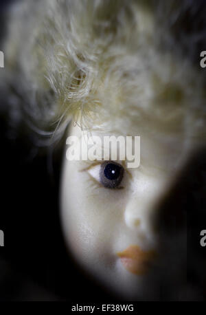staring doll - Stock Photo