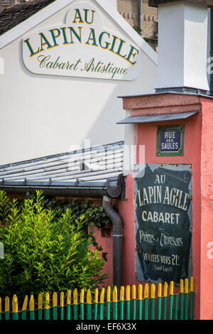 Historic Lapin Agile - Cabaret in Montmartre, Paris, France - Stock Photo