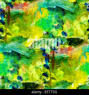 macro seamless texture africa green oil painting on canvas with - Stock Photo