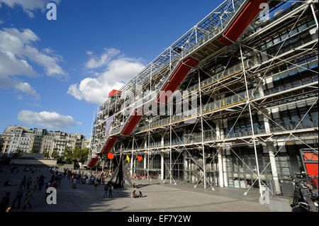 paris, beaubourg, centre pompidou - Stock Photo