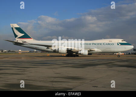 CATHAY PACIFIC CARGO BOEING 747 - Stock Photo