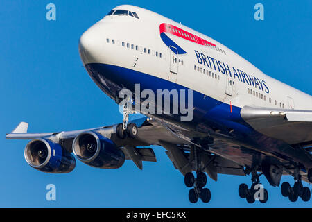 British Airways Boeing 747 - Stock Photo