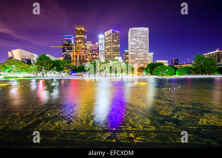 Los Angeles, California, USA downtown city skyline. - Stock Photo