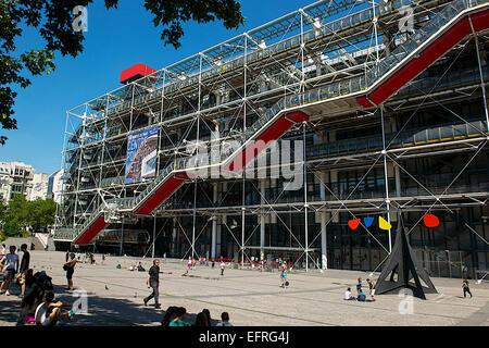 Centre Pompidou, Paris, France - Stock Photo