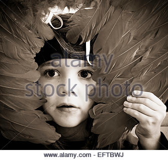 Five Year Old Toddler Boy Child Age 5 Years Portrait Playing Wearing Costume Headshot Head And Shoulders Face Portrait - Stock Photo
