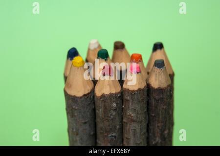 Several colored pencils - Stockfoto
