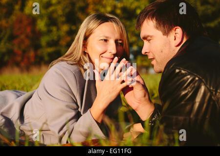 Young beautiful couple - Stock Photo