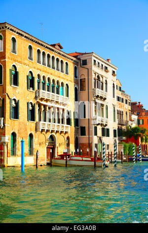 Houses at Grand Canal in Venice, Italy - Stock Photo