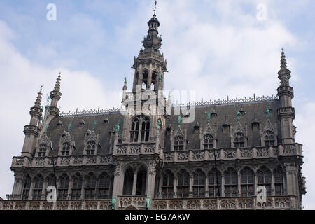 The Maison du Roi (King's House), or Broodhuis (Breadhouse) on The Grand Place (Grote Markt) in Brussels - Stock Photo