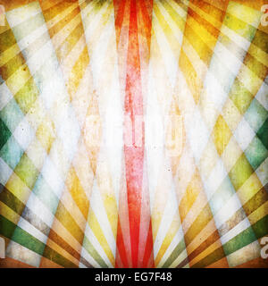 Vintage background with multicolored crossed rays - Stock Photo