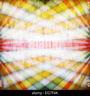 Vintage background with crossed multicolored sunbeams - Stock Photo