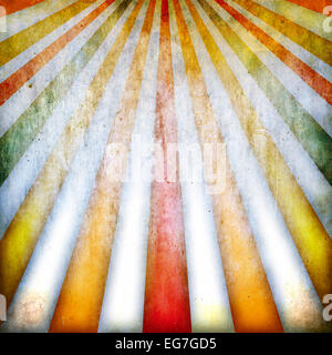 Grunge background with multicolored rays - Stock Photo