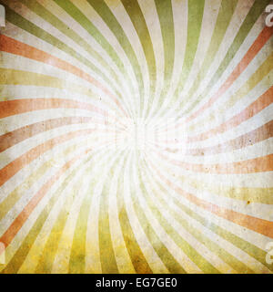 Vintage grunge background with sunbeams - Stock Photo