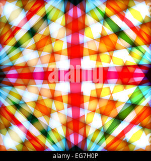 Background with multicolored crossed rays - Stock Photo